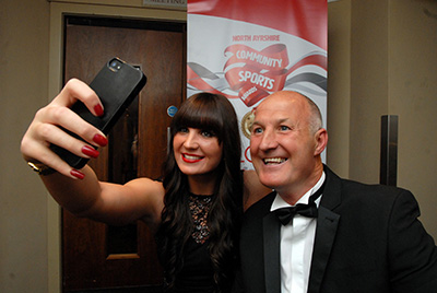 North Ayrshire community sports awards. Danielle Joyce and her dad.