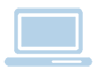 computer icon blue