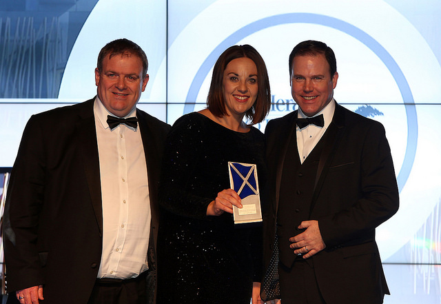 Kezia Dugdale with Best debater at the Herald Scottish Politician of the Year awards at Edinbugrh's Prestonfield House